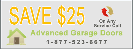 Garage Door Coupon - Save $20 on Service Call