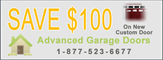 Garage Door Coupon - Save $100 on New Custom Door