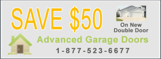 Garage Door Coupon - Save $50 on New Double Door