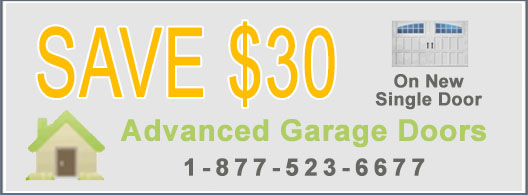 Garage Door Coupon - Save $30 on New Single Door