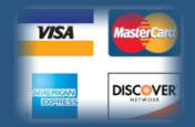 we accept al major credit cards